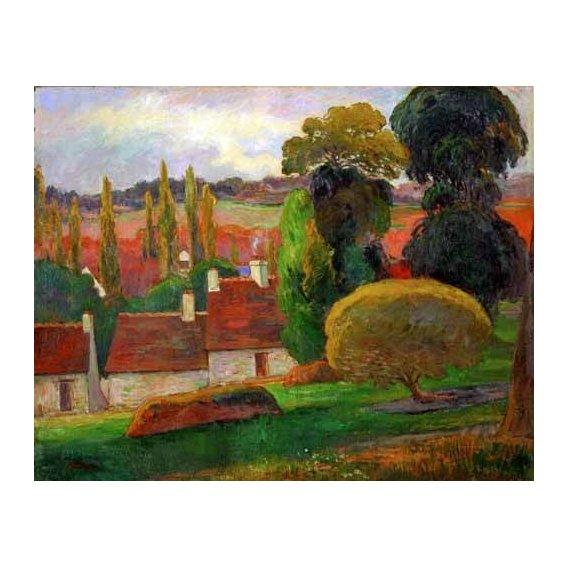 pinturas de paisagens - Quadro -A farmhouse in Brittany,1894-