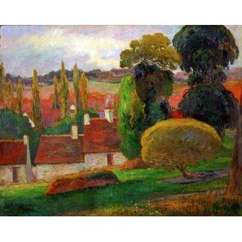 - Quadro -A farmhouse in Brittany,1894- - Gauguin, Paul