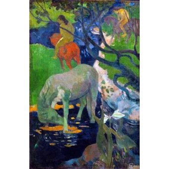 - Quadro -Caballo Blanco, 1898- - Gauguin, Paul