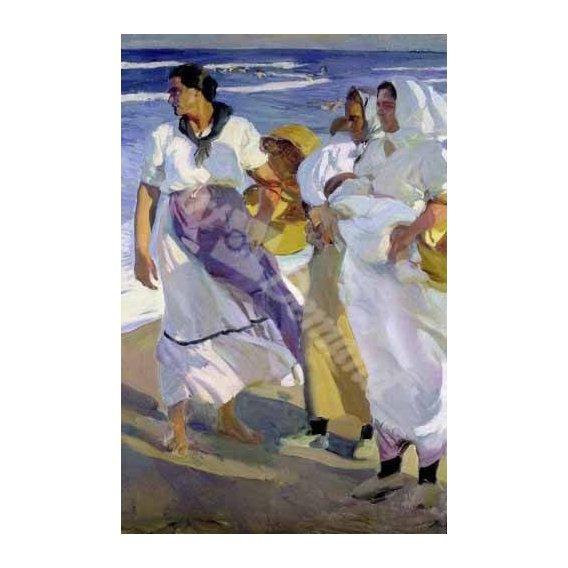 pinturas do retrato - Quadro -Pescadoras valencianas, 1915-