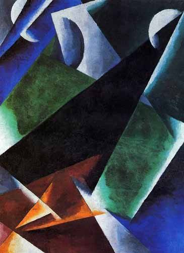 abstracts paintings - Picture -Arquitect- - Popova, Lyubov Sergevna