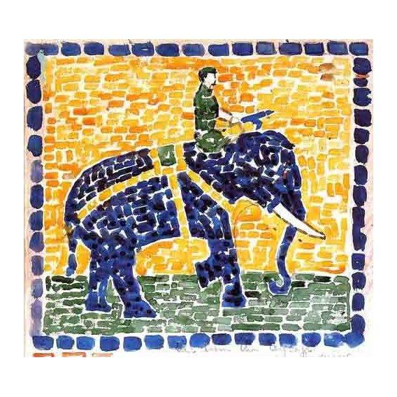 decorative paintings - Picture -Elefante-