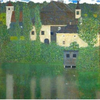 - Quadro -Schloss Unterach am Attersee- - Klimt, Gustav