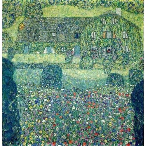 pinturas de paisagens - Quadro -Landhaus am Attersee-