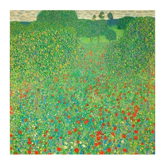 pinturas de paisagens - Quadro -A field of poppies-