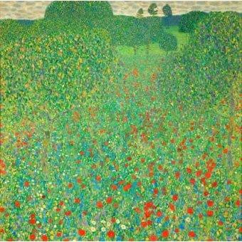 - Quadro -A field of poppies- - Klimt, Gustav