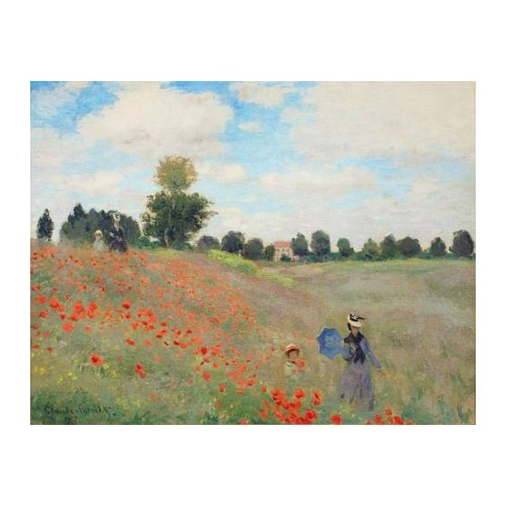 pinturas de paisagens - Quadro -Wild Poppies, near Argenteuil-