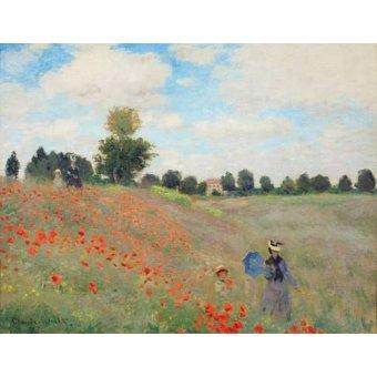 Quadros para o escritório - Quadro -Wild Poppies, near Argenteuil- - Monet, Claude