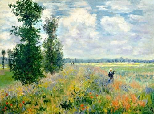 quadros-de-paisagens - Quadro -The Poppy Field - - Monet, Claude