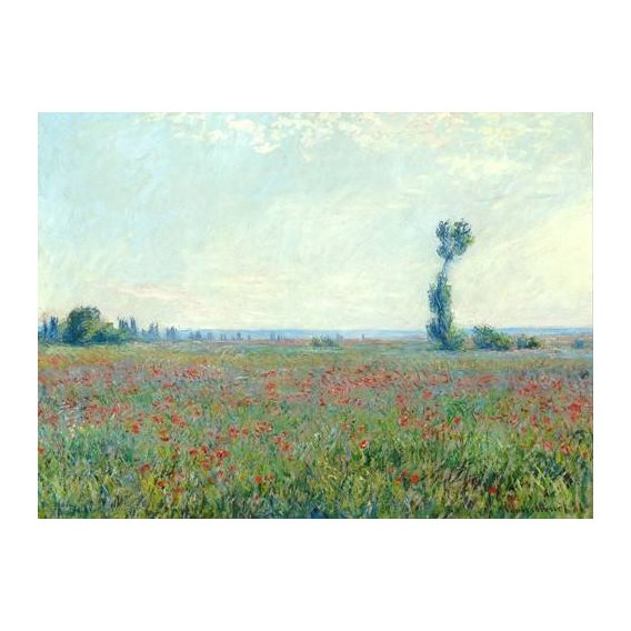 pinturas de paisagens - Quadro -The Poppy Field near Giverny-