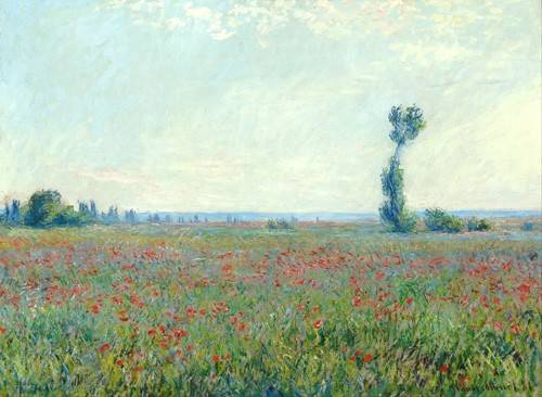 quadros-de-paisagens - Quadro -The Poppy Field near Giverny- - Monet, Claude