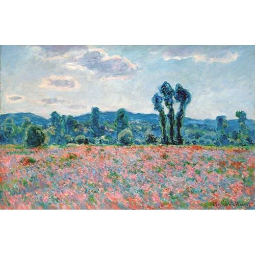 Quadro -Poppy Field, 1887 (oil on canvas)-
