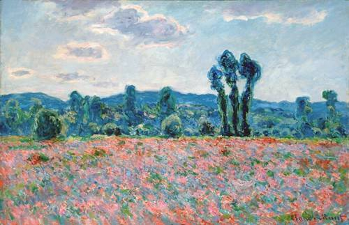 quadros-de-paisagens - Quadro -Poppy Field, 1887 (oil on canvas)- - Monet, Claude