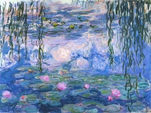 quadros-de-paisagens - Quadro -Waterlilies, 1916-19- - Monet, Claude