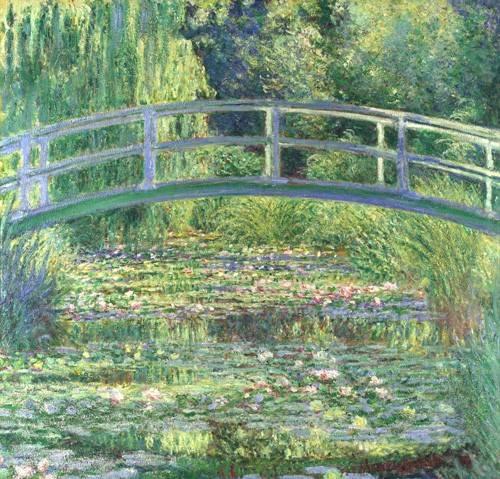 quadros-de-paisagens - Quadro -Waterlily Pond, 1899 (oil on canvas)- - Monet, Claude