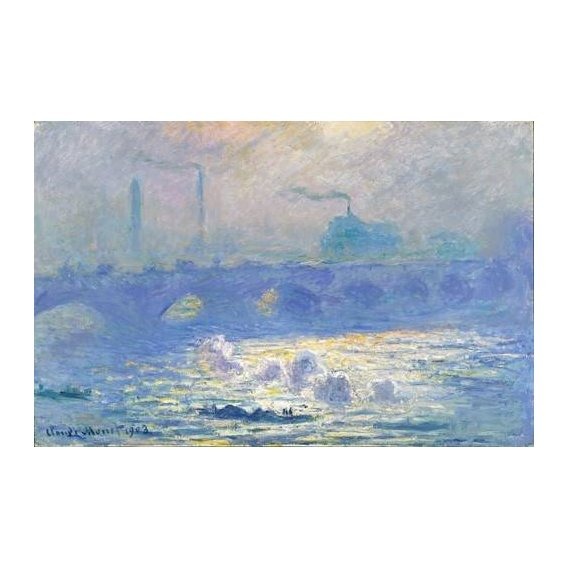 pinturas de paisagens - Quadro -Waterloo Bridge, Effect of the Mist, 1903-