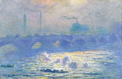 quadros-de-paisagens - Quadro -Waterloo Bridge, Effect of the Mist, 1903- - Monet, Claude