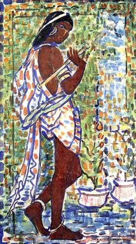 cuadros decorativos - Cuadro -Bailarina Hindú- - Prendergast, Maurice