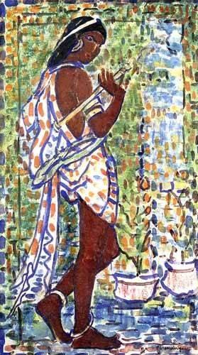 decorative paintings - Picture -Bailarina Hindú- - Prendergast, Maurice