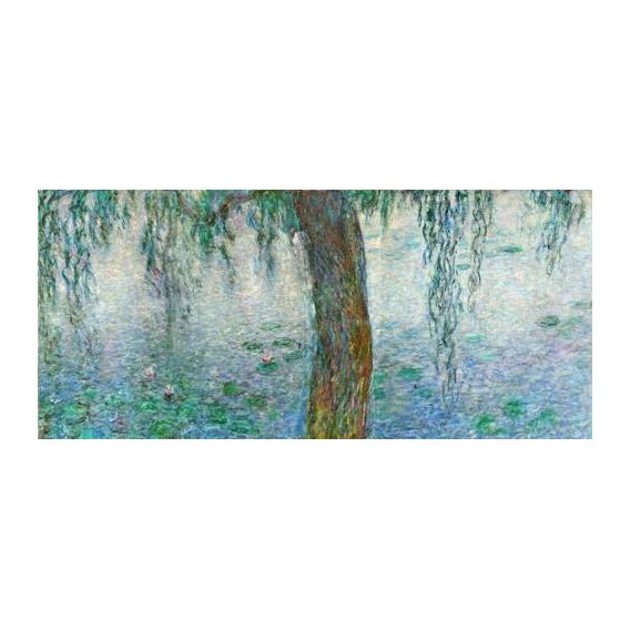pinturas de paisagens - Quadro -Waterlilies, Morning with Weeping Willows, (right section)-