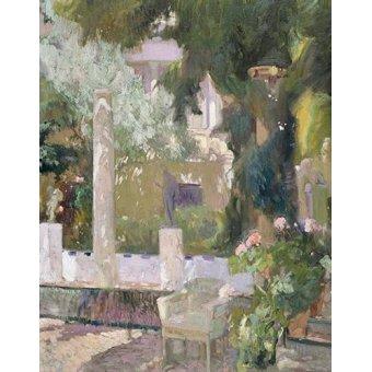 - Quadro -Los jardines de la casa familiar, 1920- - Sorolla, Joaquin