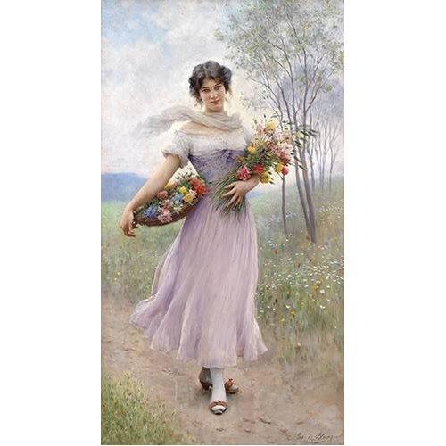 pinturas do retrato - Quadro -Spring Flowers-