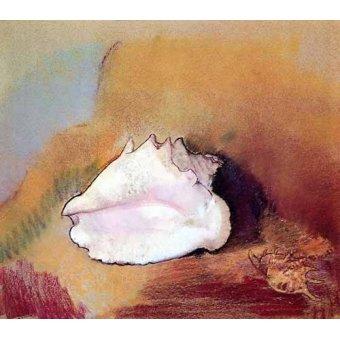 naturezas mortas - Quadro -La concha de mar- - Redon, Odilon
