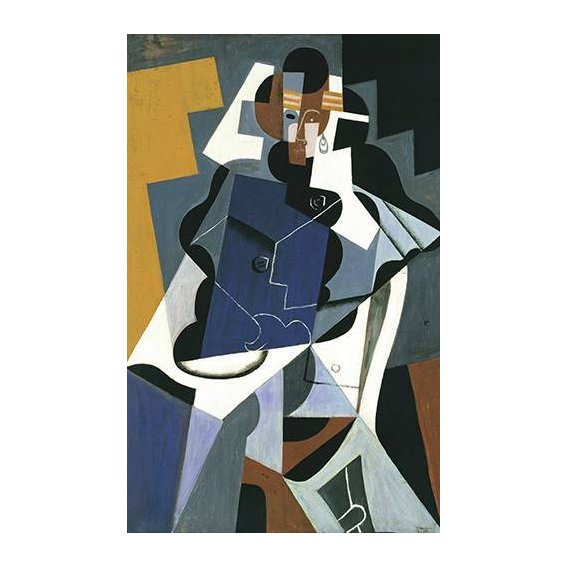 pinturas abstratas - Quadro -Figure of a Woman, 1917-