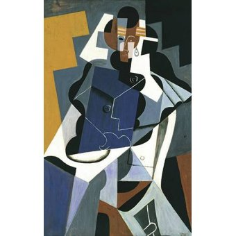 Quadros abstratos - Quadro -Figure of a Woman, 1917- - Gris, Juan
