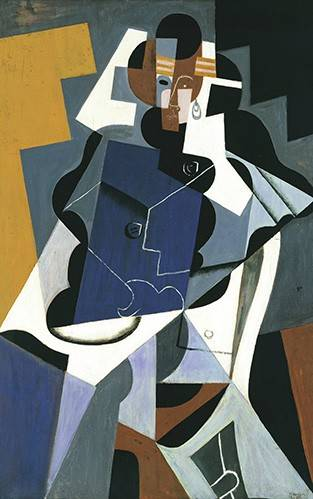 quadros-abstratos - Quadro -Figure of a Woman, 1917- - Gris, Juan