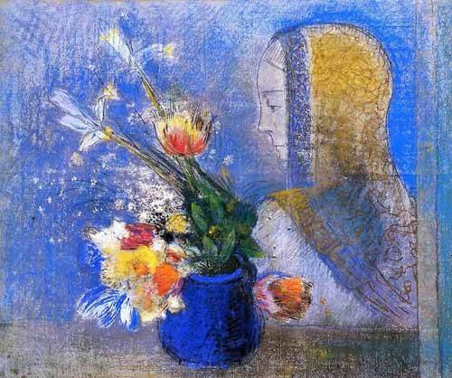 decorative paintings - Picture -Meditación- - Redon, Odilon
