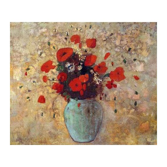 decorative paintings - Picture -Jarrón de amapolas-