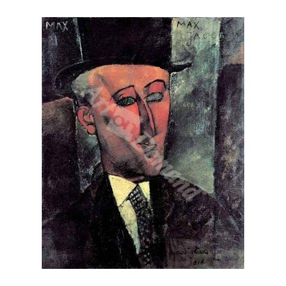 pinturas do retrato - Quadro -Portrait de Max Jacob-