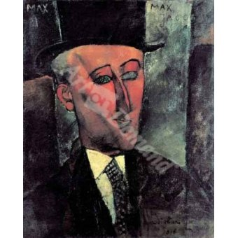 - Quadro -Portrait de Max Jacob- - Modigliani, Amedeo