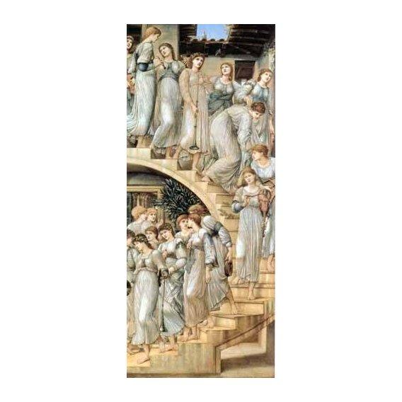 pinturas do retrato - Quadro -The Golden Stairs-