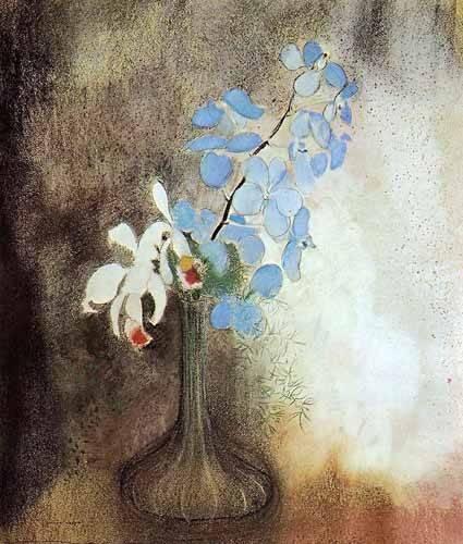 decorative paintings - Picture -Orquideas- - Redon, Odilon