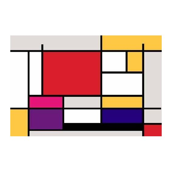 pinturas abstratas - Quadro -Abstractos MM_MONDRIAN (I)-