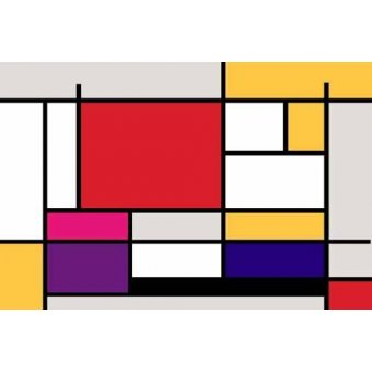 abstracts paintings - Picture -Abstractos MM_MONDRIAN (I)- - Vicente, E. Ricardo