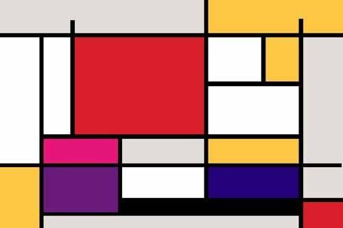 quadros-abstratos - Quadro -Abstractos MM_MONDRIAN (I)- - Vicente, E. Ricardo