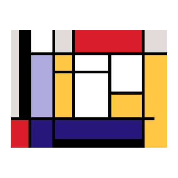 pinturas abstratas - Quadro -Abstractos MM_MONDRIAN (II)-