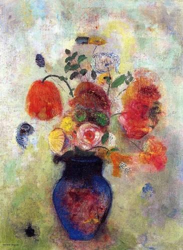 decorative paintings - Picture -Bouquet de flores 2- - Redon, Odilon