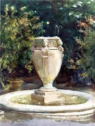 decorative paintings - Picture -Fuente de Pocantico- - Sargent, John Singer