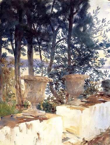 decorative paintings - Picture -La terraza de Corfu- - Sargent, John Singer