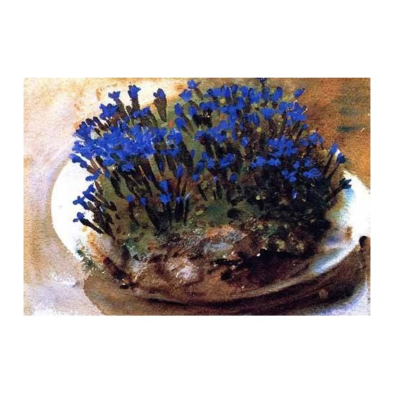decorative paintings - Picture -Gencianas azules-