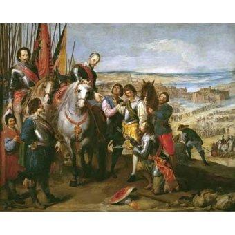 pinturas de retratos - Quadro -La rendicion de Juliers- - Leonardo, Jusepe