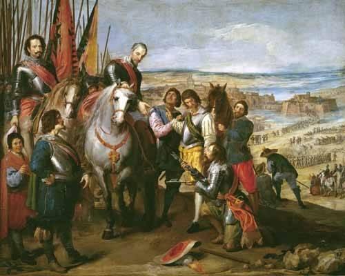 pinturas-de-retratos - Quadro -La rendicion de Juliers- - Leonardo, Jusepe