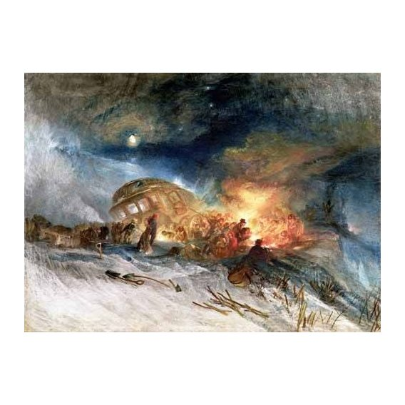pinturas de paisagens - Quadro -Travellers in a Snowdrift-