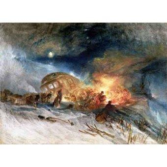 - Quadro -Travellers in a Snowdrift- - Turner, Joseph M. William
