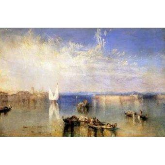 quadros de paisagens marinhas - Quadro -Campo Santo, Venecia- - Turner, Joseph M. William