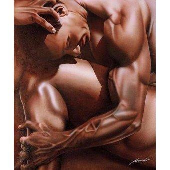quadros nu artistico - Quadro -HOMBRE TORTURADO- - Miranda, Nieves